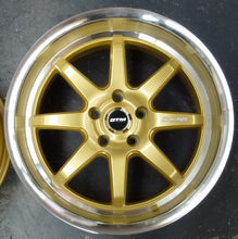 Load image into Gallery viewer, DTM Atom 18x8.5 5/114.3 15p Gold Deep Dish mag wheels x 4