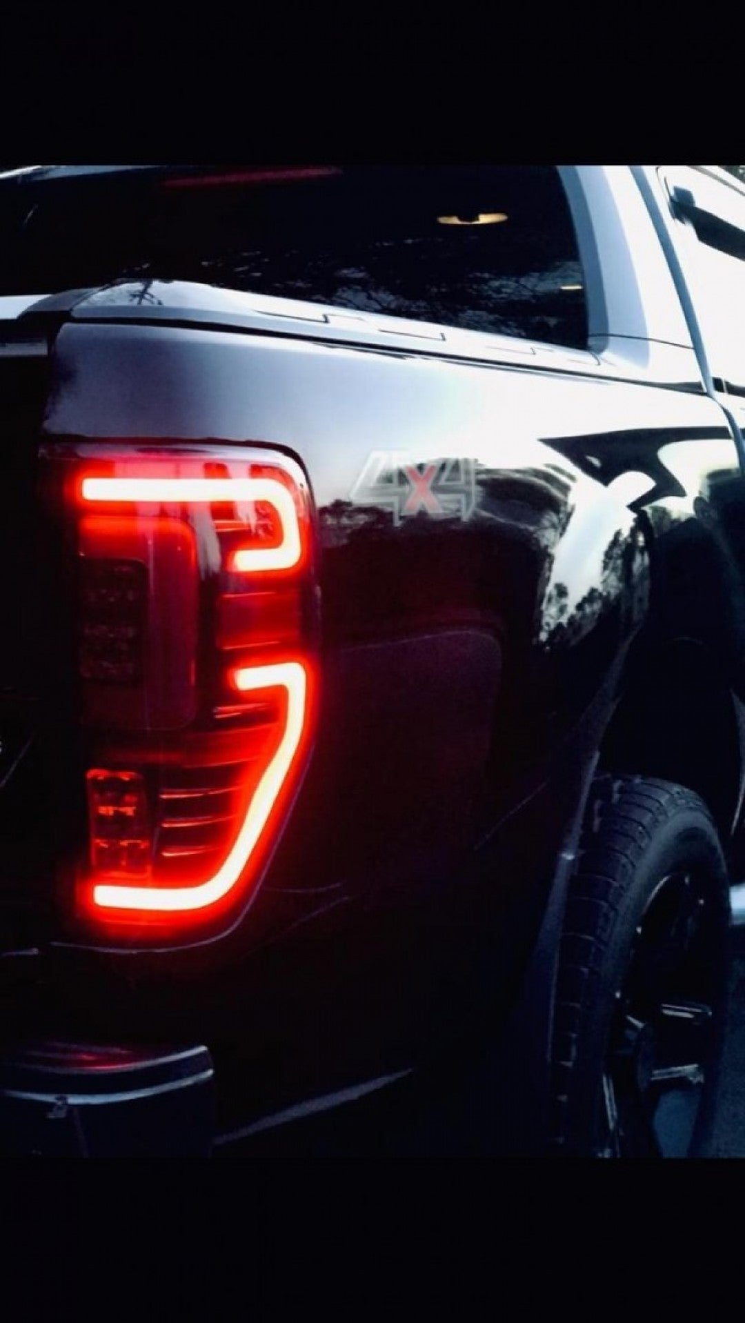 Dark Tint Rear LED tail lights to suit Ford Ranger PX1 PX2 and PX3 New and COOL