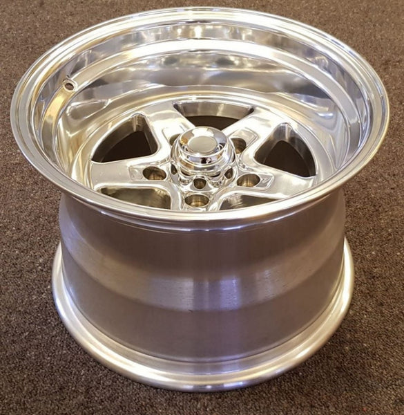 2x 15x10 -25 5/120.65 5/4.75 Ultra Comet polished for Chev, Holden HQ