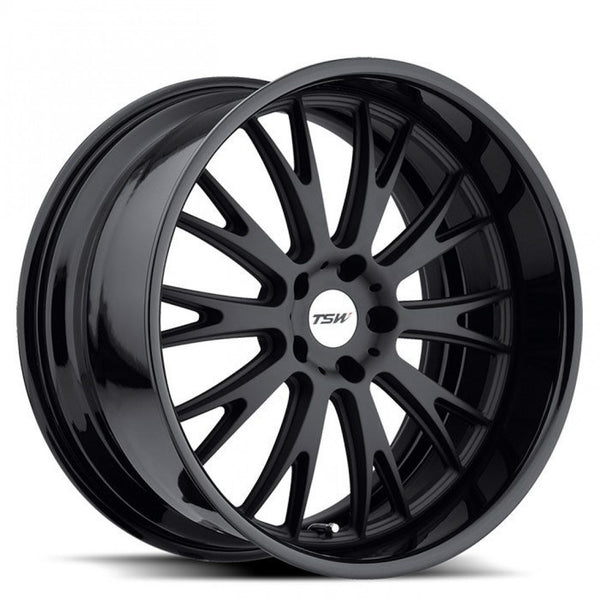 TSW Monaco 19x8.5 35p & 19x9.5 39p 5/120 genuine 2 piece wheels Matt Black mags