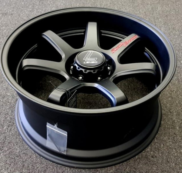 Lenso RTF 20x9.5 6/139.7 15p Full Matt Black Brand New mags concave with dish