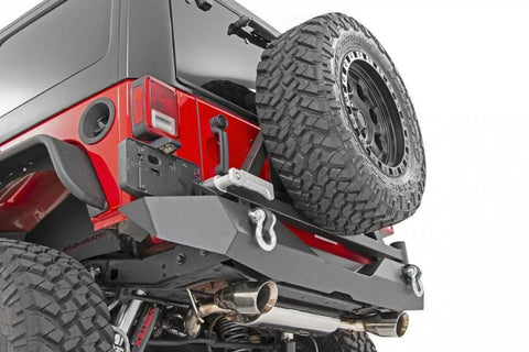 JEEP JK Rear steel bumper with spare tyre carrier 10594A Rough Country USA NEW