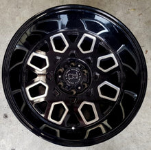 Load image into Gallery viewer, Black Rhino Predator 20x12 6/139.7 -44 Gloss Black with Milled Spokes huge dish