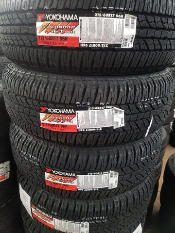 "4 new 215/60R17 96H Yokohama G015 A/T All Terrain 27"" tall nice small A/T tyres"