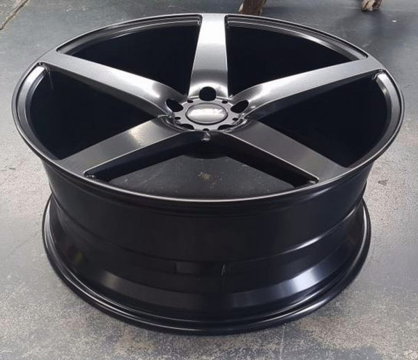 4 x wheels BGW Storm 22x9 5/120 40p Full Black suit Range Rover Amarok Commodore