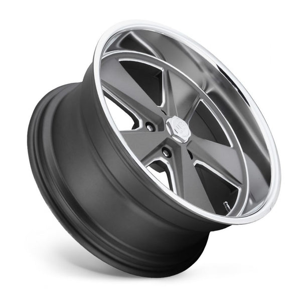 4 x New US MAG ROADSTER 20x9.5 1p offset 5/127 Anthracite Polish Lip suit C10