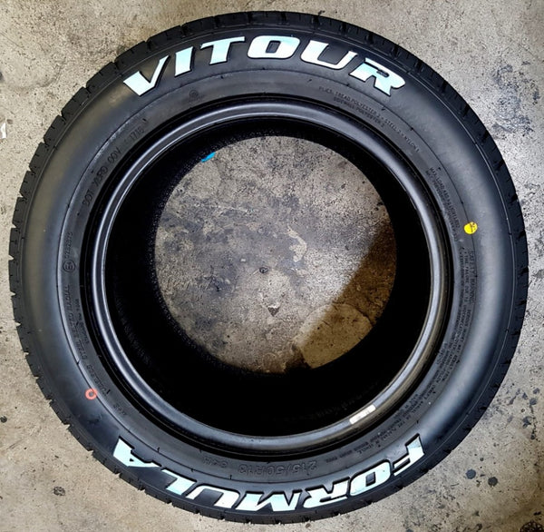 1 x 235/50R13 89H Vitour Formula Tyre with Raised White Lettering Escort RX7 etc