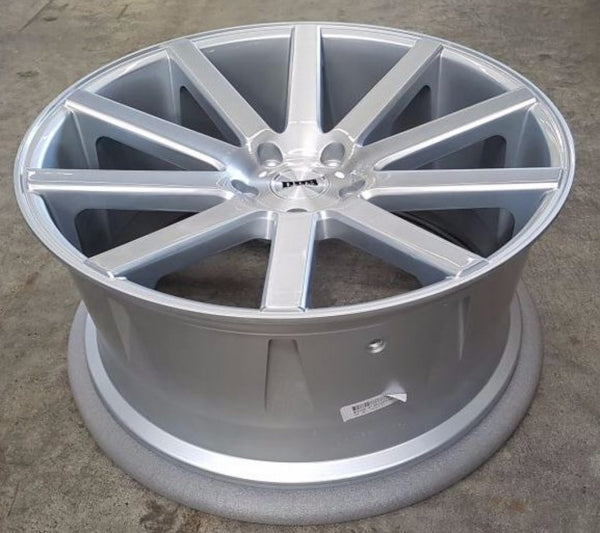 DUB CALLA 22x10.5 5/130 50p Silver with a awesome Brushed Finish Face Porsche