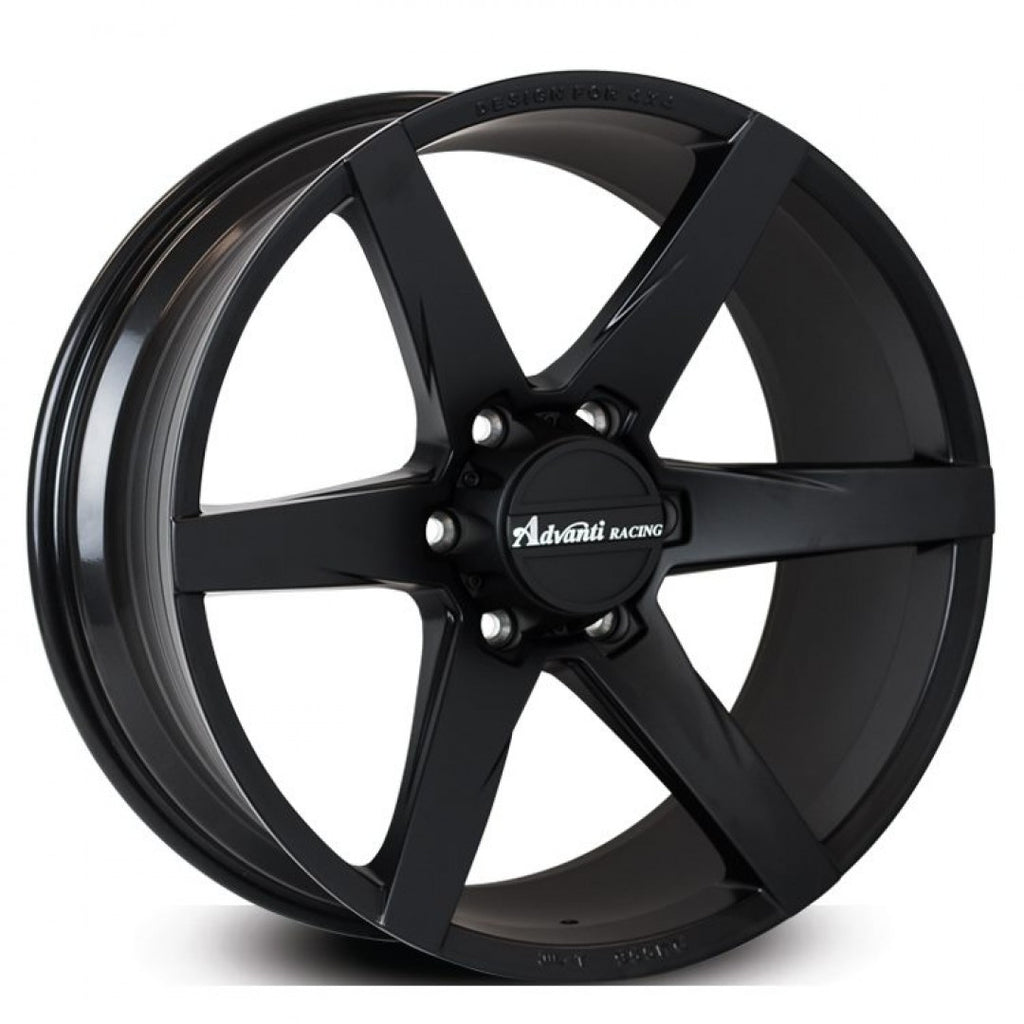 Advanti Bison 20x9 6/139.7 30p Full Matt Black wheels Clearance Stock must go