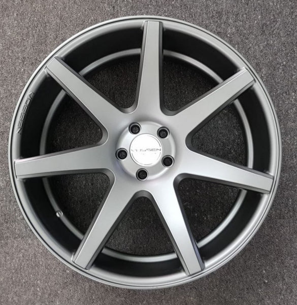 "Vossen CV7 22x10.5 5/114.3 42p Full Graphite 4 new mags great 22"" Mazda CX9 CX7"