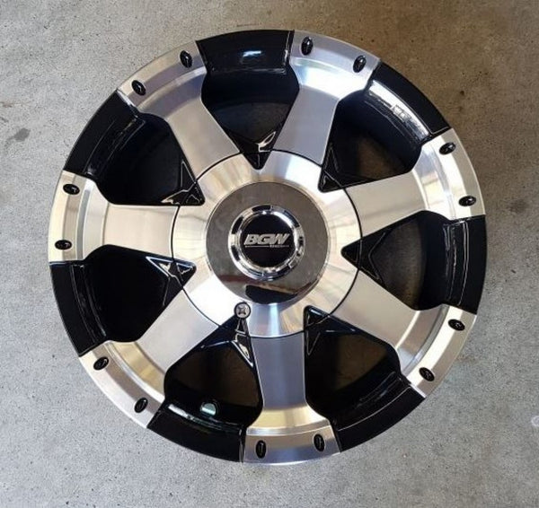 4 x new Trailer mags wheels 13x5 BGW Ultra 5/114.3 0p offset Black machined face