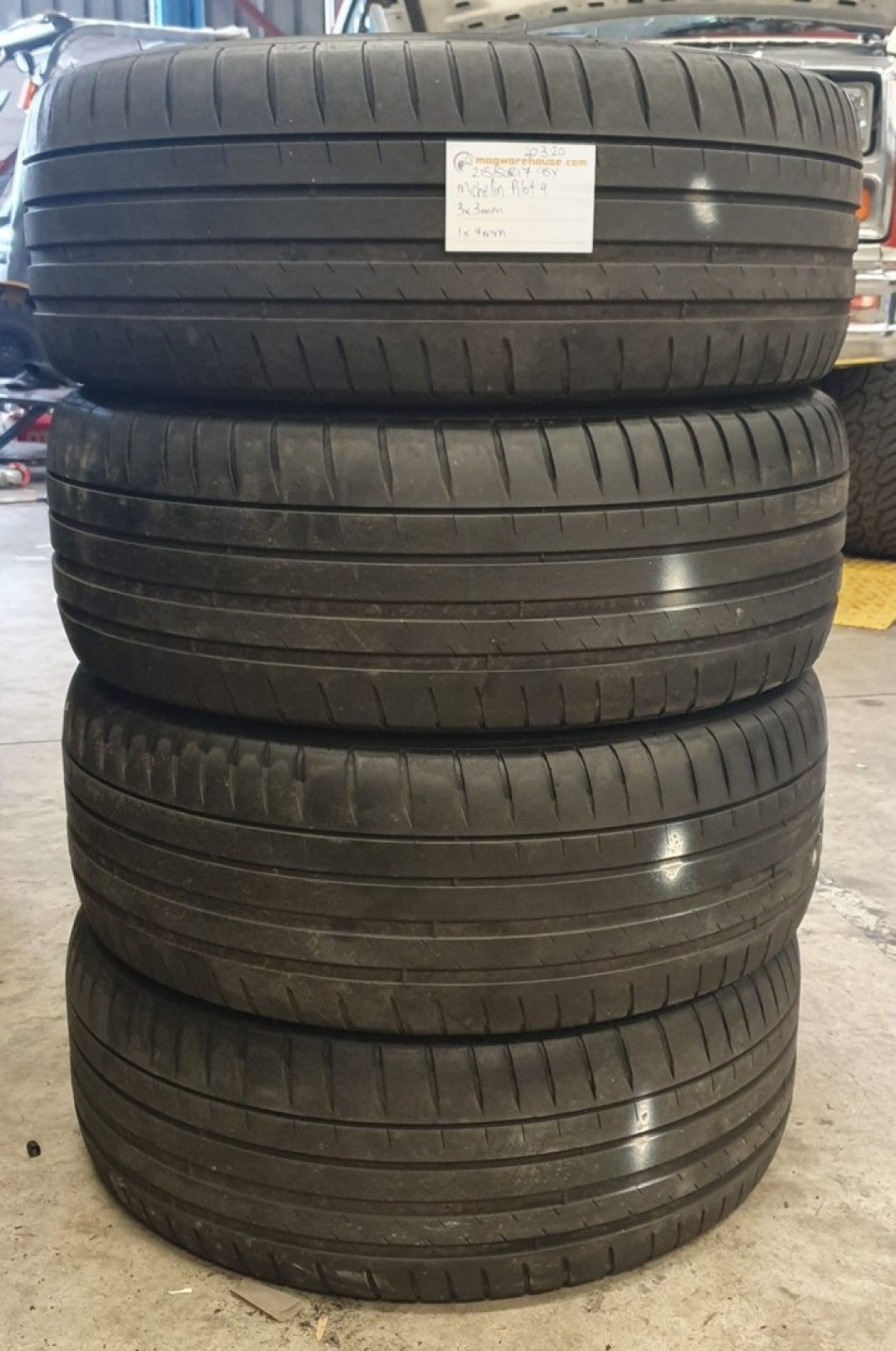 215/50ZR17 95Y Michelin Pilot Sport 4 3x3mm 1x4mm FREE FITTING IN BUYNOW!!!