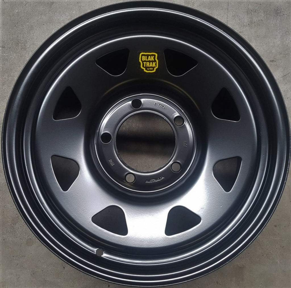 Black Trak 17x8 5/150 35p Matt Black to suit 5 stud Landcruiser