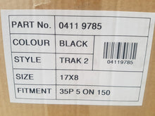 Load image into Gallery viewer, Black Trak 17x8 5/150 35p Matt Black to suit 5 stud Landcruiser