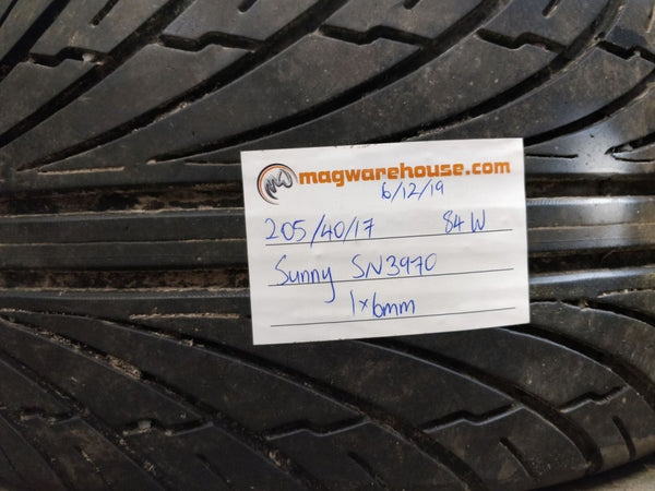205/40R17 84W Sunny SN3970 1x6mm, FREE Fitting with BUYNOW!!!