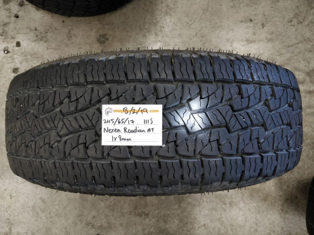 245/65R17 111S Nexen Roadian AT Pro 1x8mm tread left, fitting in the buynow!!!
