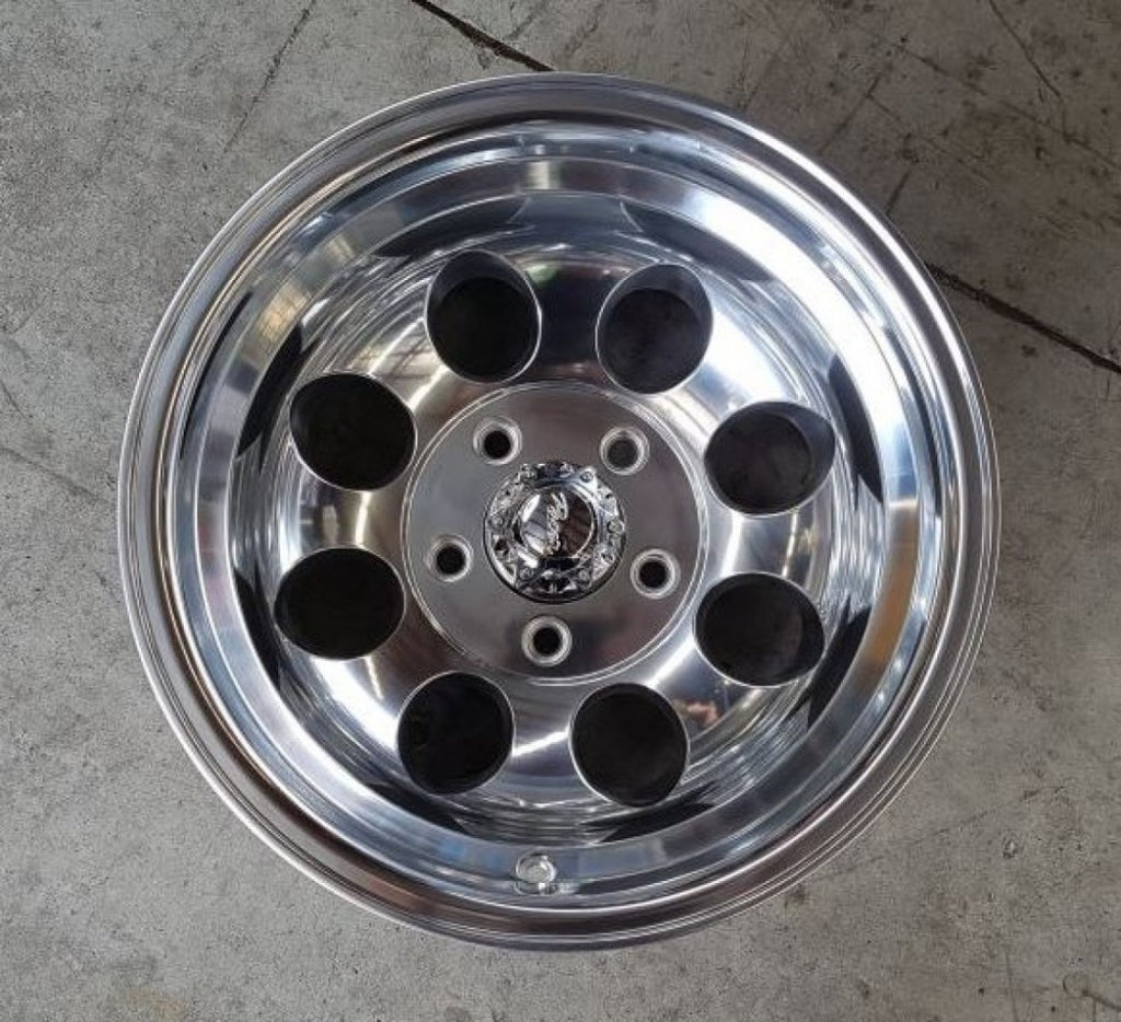 Pacer LT 164P 15x10 5/127 Polished -46 offset super tuff wheels for Jeep or C10