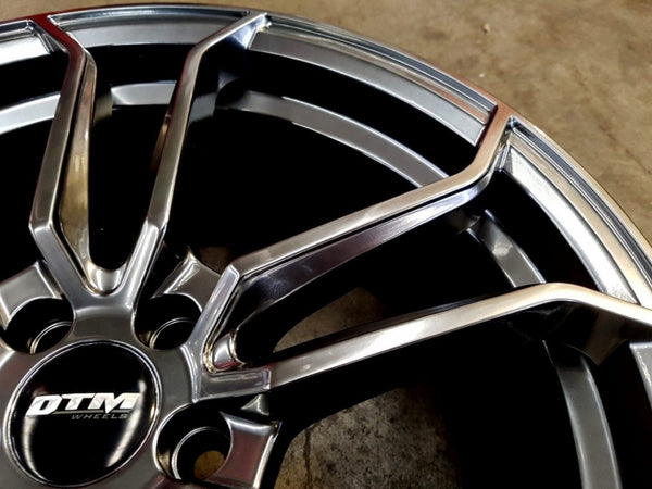 18x8.25 DTM Royal 40p offset 5/100 Hyper Dark - these wheels are on clearance