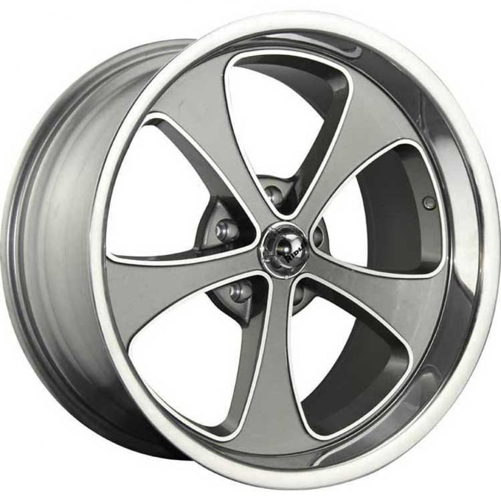 "4 x new Ridler 645 17x8 5/4.5 Grey 0 offset NEW mags 8"" wide old Ford Falcon"