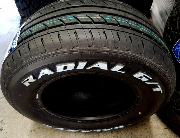 245/60R14 98H Galaxy R1 Radial G/T Tyres x 2 with White Lettering
