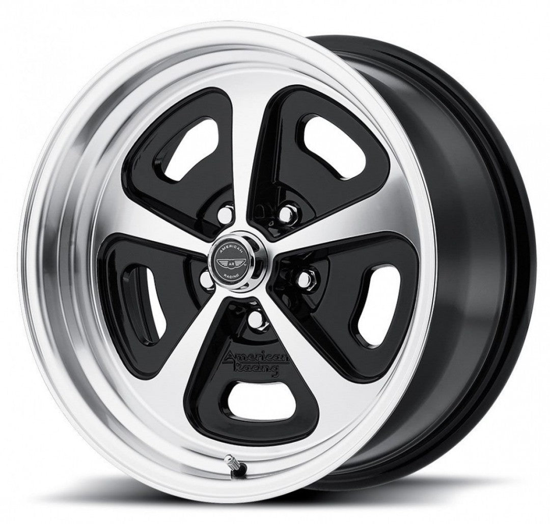 American Racing AR500 15x7 & 15x8 5/4.75 or 5/120.65 0 offset Black polish face