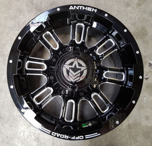 Anthem Enforcer 18x9 6/139.7 6/135 18p Gloss Black great for 4x4 Toyota Hilux