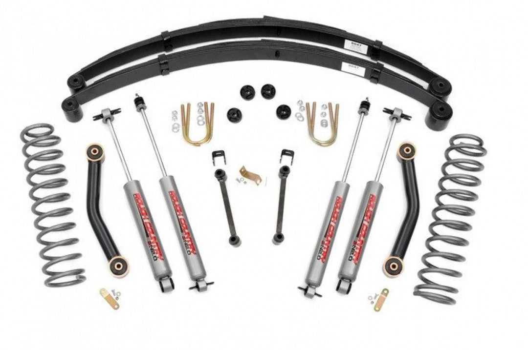 "Rough Country 4.5"" XJ JEEP SUSPENSION LIFT SYSTEM inc Coils 633N2 REAR SPRINGS"