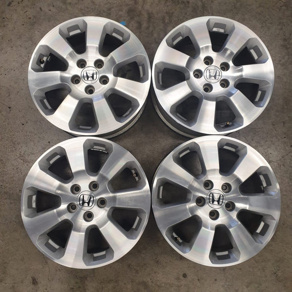 Honda 17x6.5 5/114.3 50p s/hand mags wheels fully machined face CHEAP 5x1143