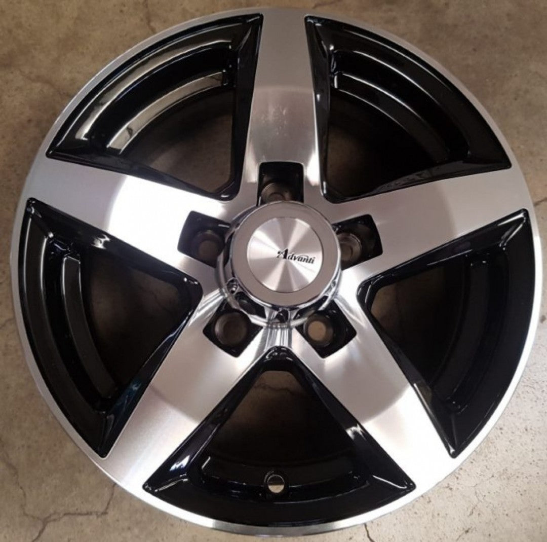 4 x New mag wheels 14x6 Vulcan 5/114.3 0p offset Gloss Black with Machined Face