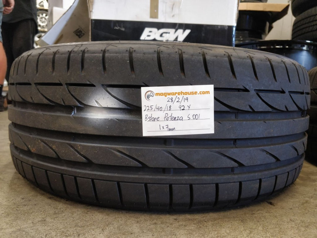 225/40R18 92Y Bridgestone Potenza S001 1x7mm made in Poland