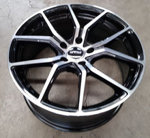 Load image into Gallery viewer, DTM Syrio 19x8.5 42p & 19x9.5 40p 5/114.3 35p Gloss Black Machined Polished Face