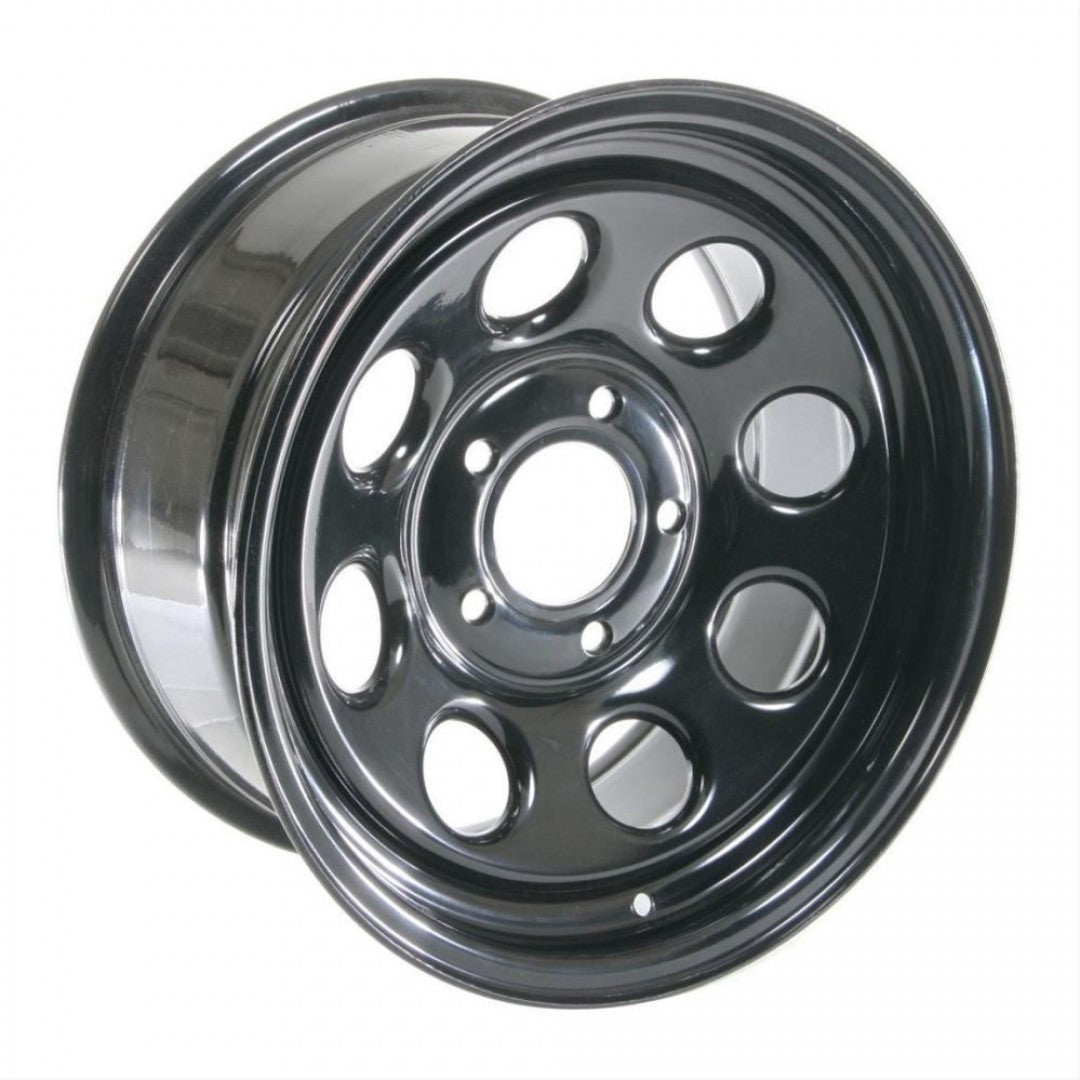 Dynamic Soft 8 Black Steels 15x8 -22 6/139.7 4 x new wheels Hilux Landcruiser