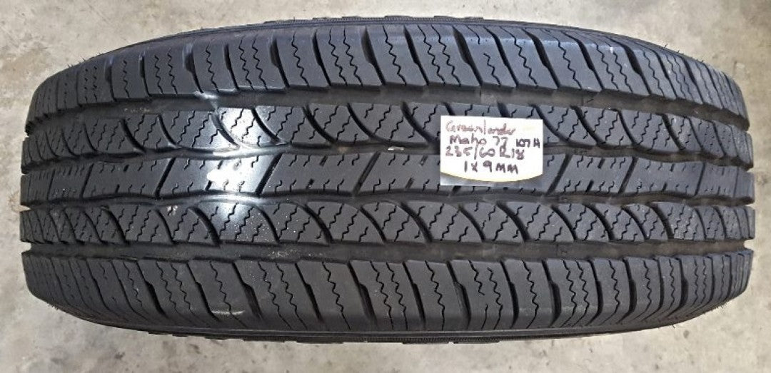 1 x 235/60R18 107H Greenlander MAHO 77 9mm tread 1 tyre fitting in buynow