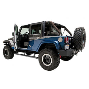 AMP Research PowerStep Plug & Play Kit With LED Lights Jeep Wrangler JK 2007-18