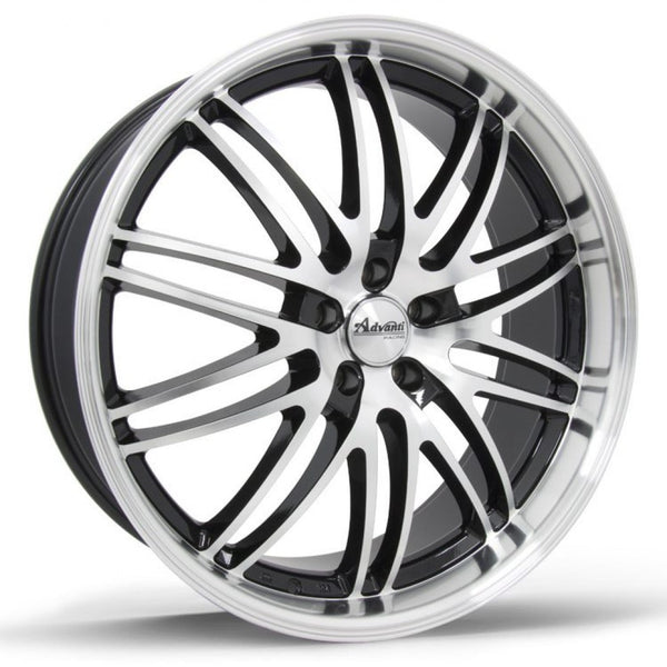 Stratos 22x8.5 5/114.3 40p Black Machined mags special demo stocktake clearance