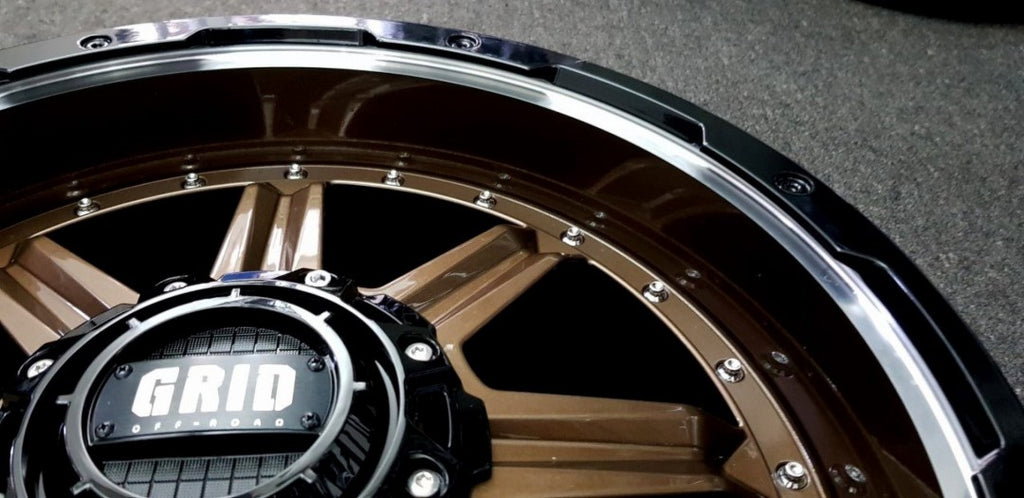 4 x New Grid GD10 20x9 6/139.7 -12 Gloss Bronze with Gloss Black & Milled Lip