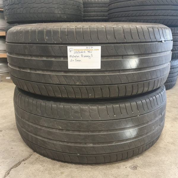 225/50R18 95V Michelin Primacy 3 2x5mm, FREE FITTING WITH BUYNOW!!!