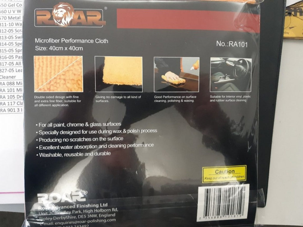 Microfiber High Performance Cloth by ROAR Polish Polishers made in England