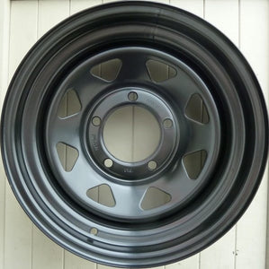 Dynamic Black Steel wheels 16x8 0 offset & 16x8 -50 offset suit 70 Series