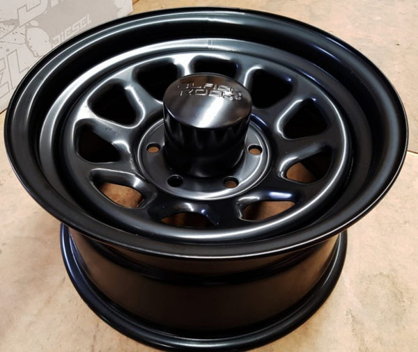 Black Rock Type D tough Steels 16x8 13p 6/139.7 4 new wheels great for Hilux
