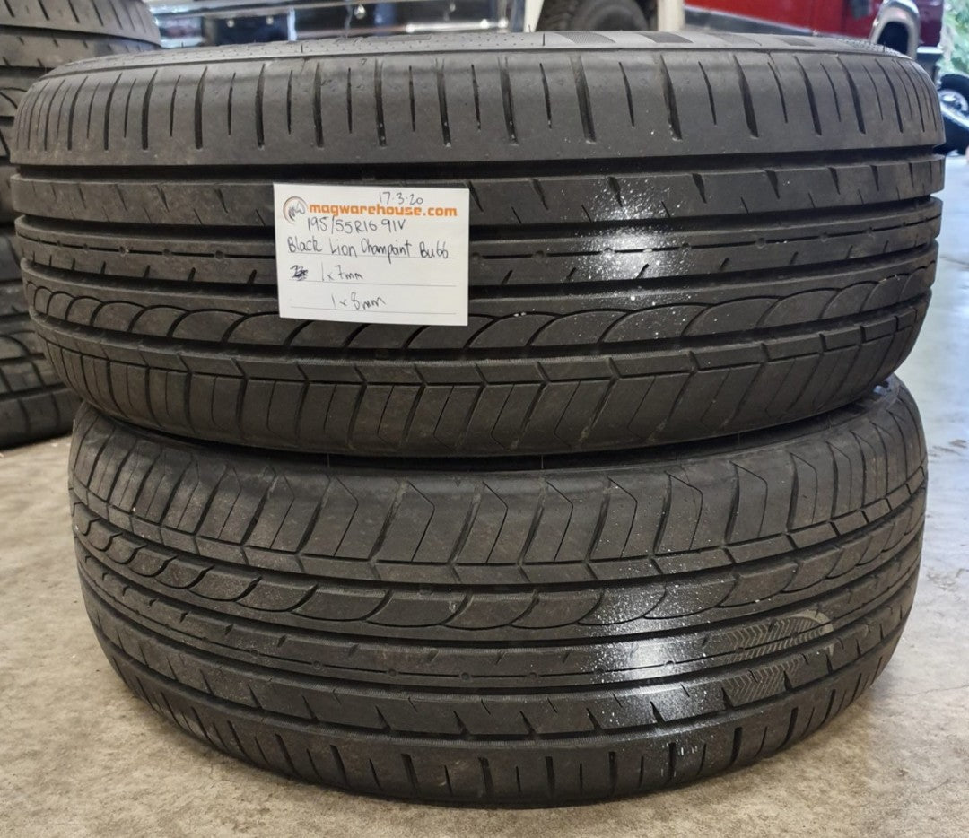 195/55R16 91V Black Lion Champoint BU66 1x8mm 1x7mm, FREE Fitting with BUYNOW!!!