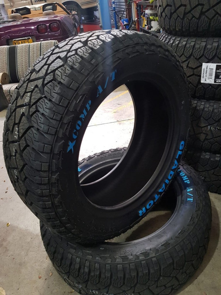 4 x NEW 285/55R20 Gladiator X Comp 119Q A/T All Terrain New tyres very quiet RWL