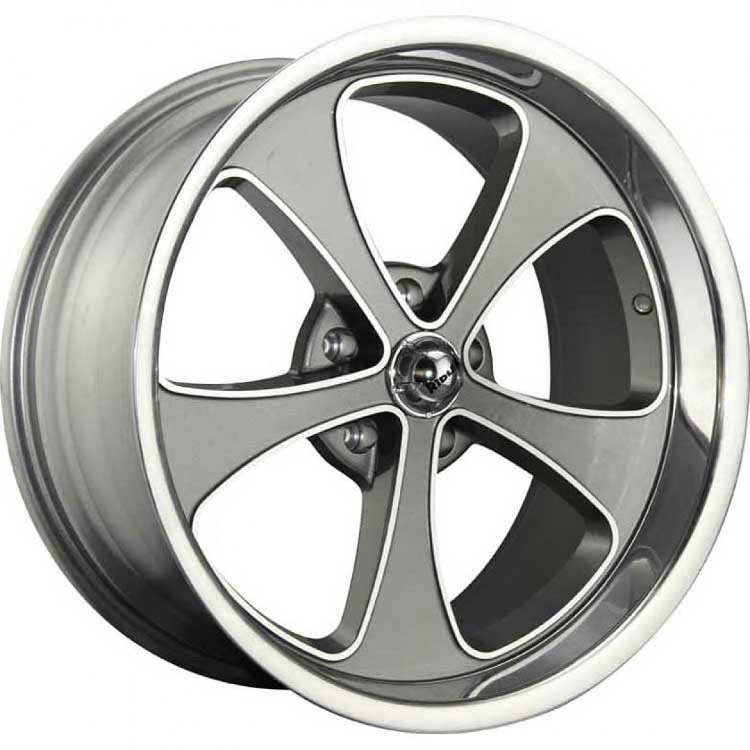 4 new Ridler 645 17x8 5/114.3 or 5/4.5 Grey 0 offset NEW Mustang falcon old type