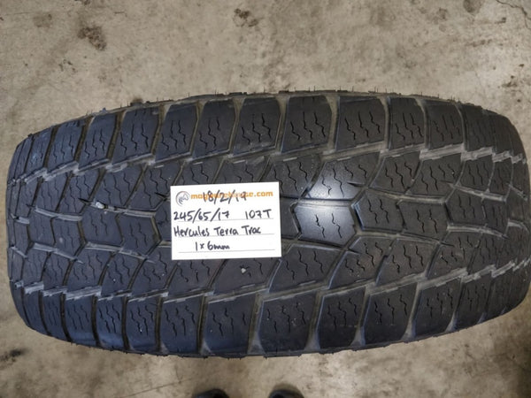 245/65R17 107T Hercules Terra Trac 1x6mm tread left, fitting in the buynow!!!
