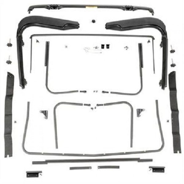 Rugged Ridge Factory Soft Top Hardware RUG13510.03 For Jeep Wrangler Tj