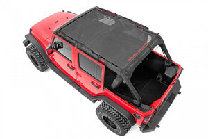 Rough Country JEEP WRANGLER JK Black MESH BIKINI TOP PLUS 07-18 4-DOOR 85110