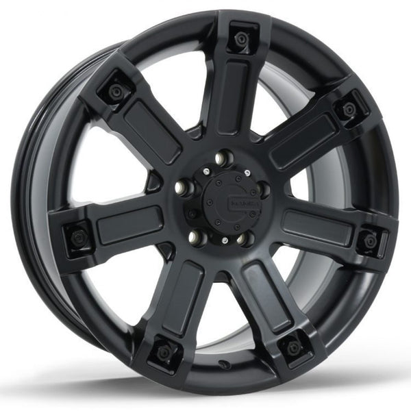 4x new Comanche 20x9 6/139.7 35p Satin Black Hiace Ranger BT50