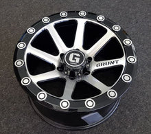 Load image into Gallery viewer, Lenso GRUNT 18x9 6/139.7 15p Black MACHINED FACE great for 4x4 Toyota Hilux
