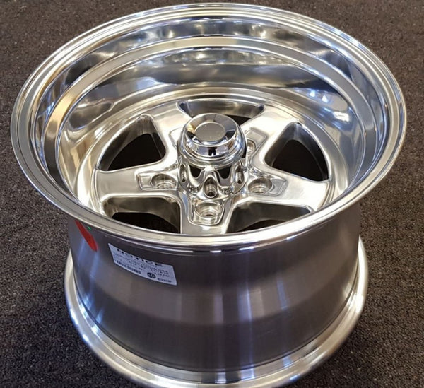 2x 15x10 0 offset 5/120.65 5/4.75 Ultra Comet polished for Chev, Holden HQ
