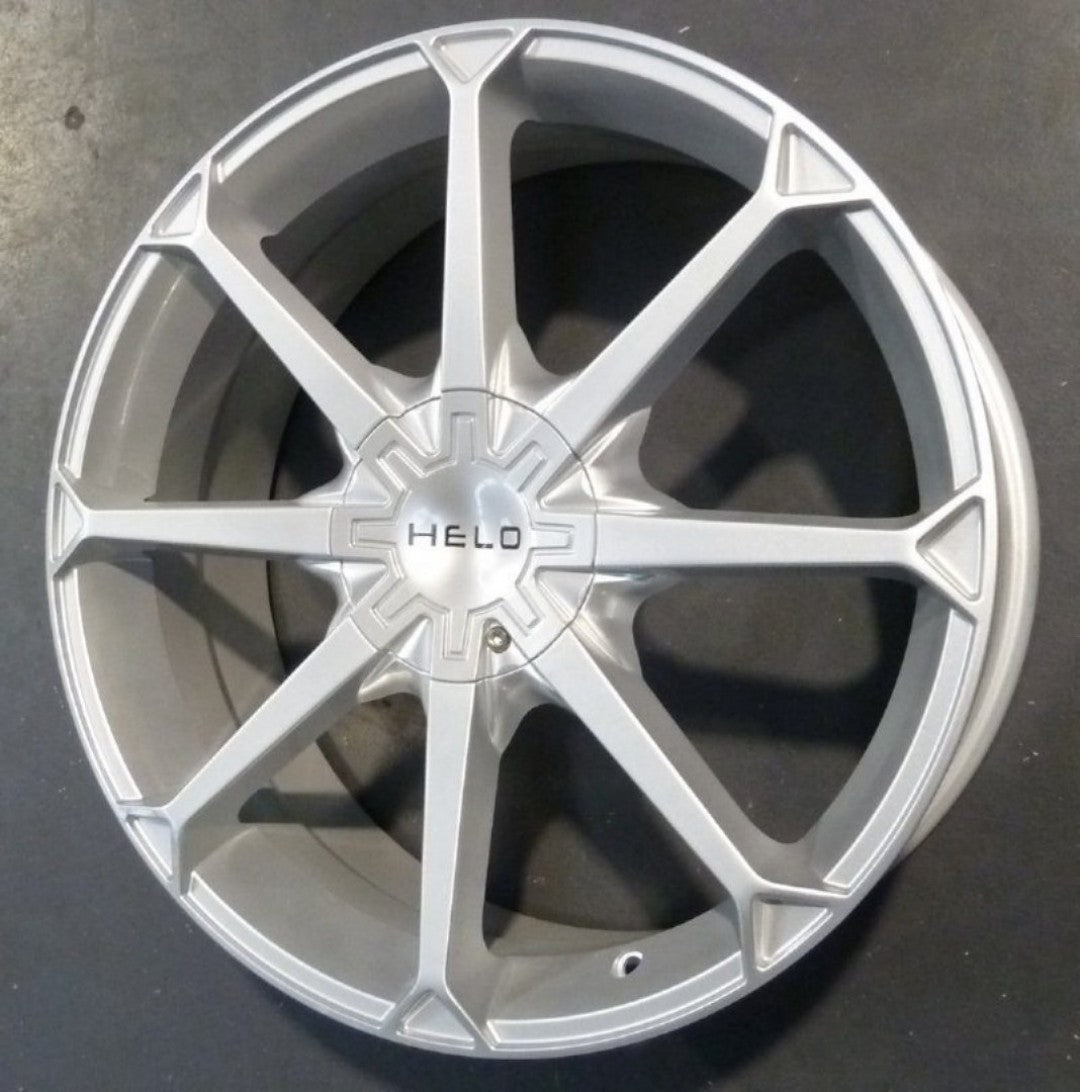 "HELO HE870 20x8 5/120 5/114.3 72.6mm Silver 42p REDUCED TO CLEAR 20"" WHEELS"